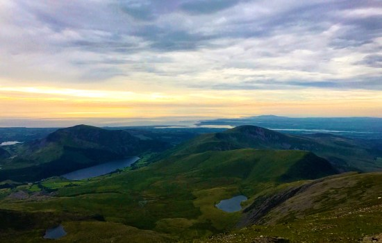 View from the top of Snowdonia