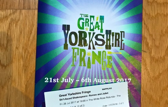 Tickets to Sh*t faced Shakespeare at the Great Yorkshire Fringe Festival