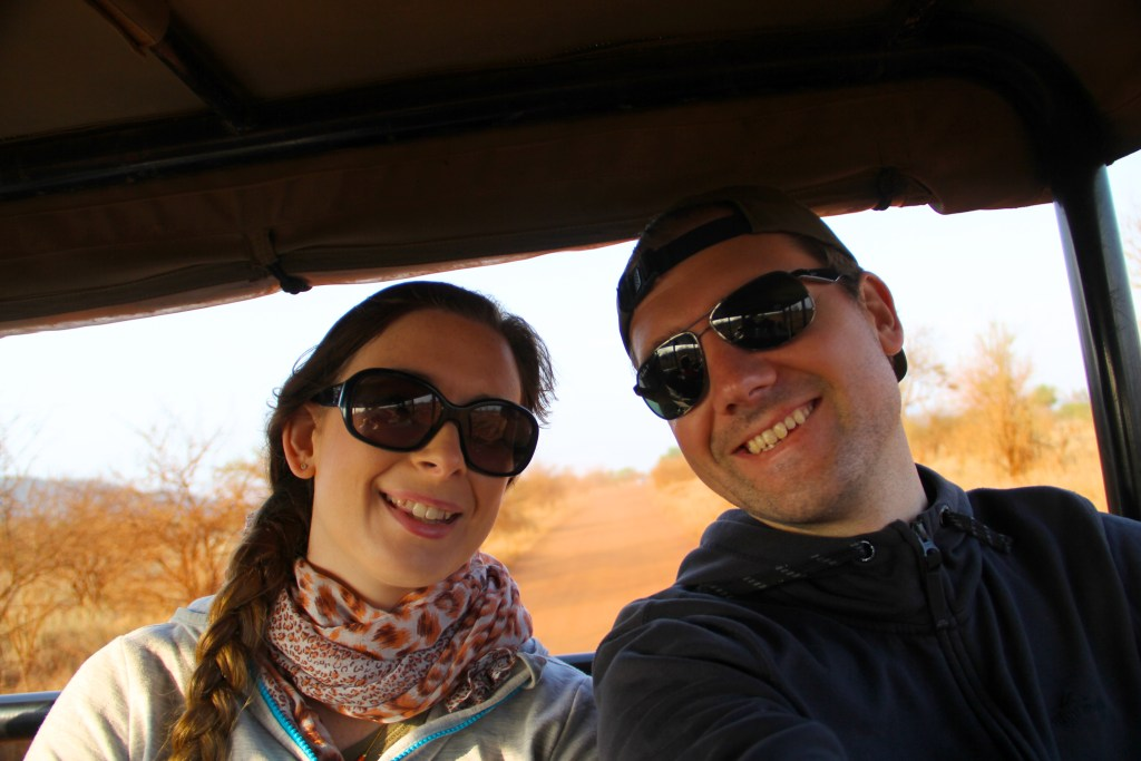 Stephen and Brooke on the sunset safari