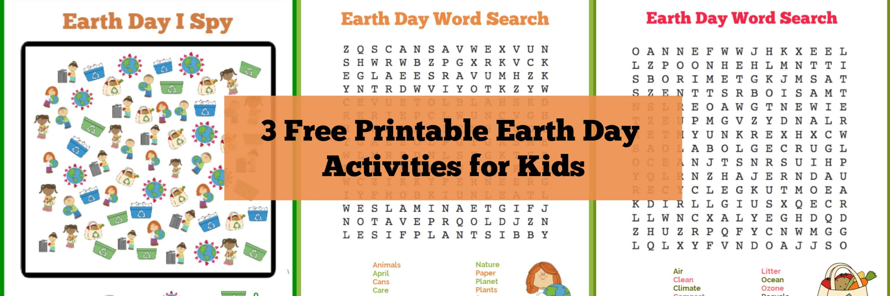 Earth Day Printable Activities Word Searches And I Spy