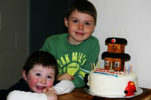 Birthday boy and his brother