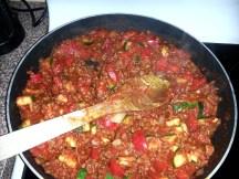 beautiful Nikki's home cooked vegetarian dinner