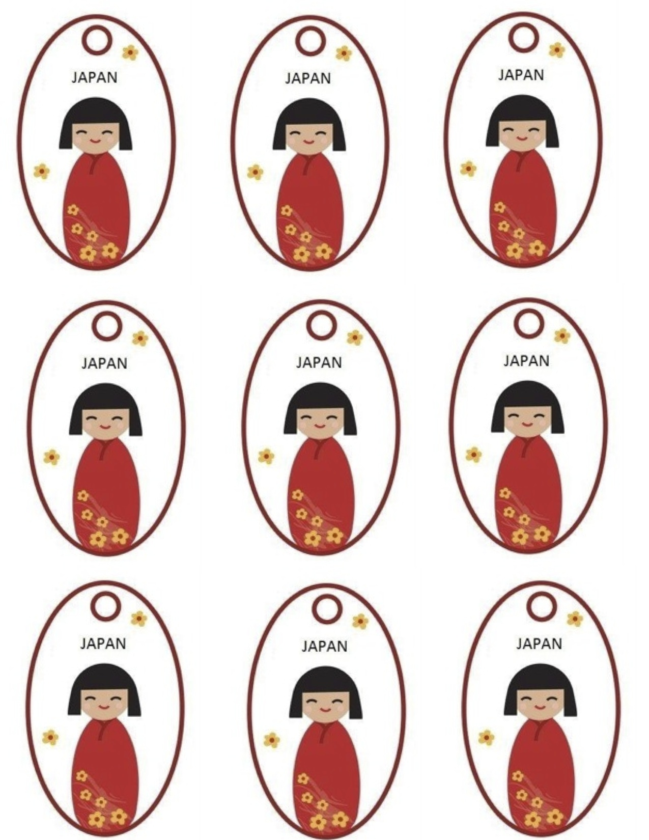 Kokeshi Doll Swap For World Thinking Day Japan