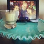 cake plate on desk