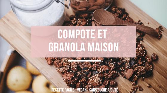 Compote et granola maison