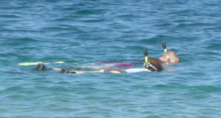 Klee and Lou Snorkeling