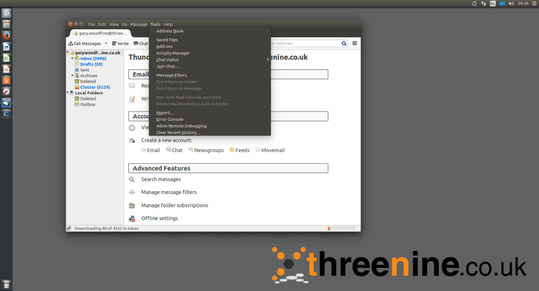 Setup office365 calendar with Thunderbird | threenine co uk
