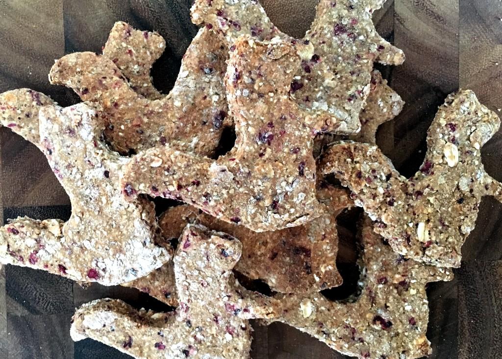 Cranberry, Honey, and Oat Dog Treats