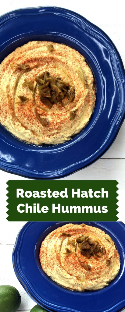 Roasted Hatch Chile Hummus | Three Olives Branch