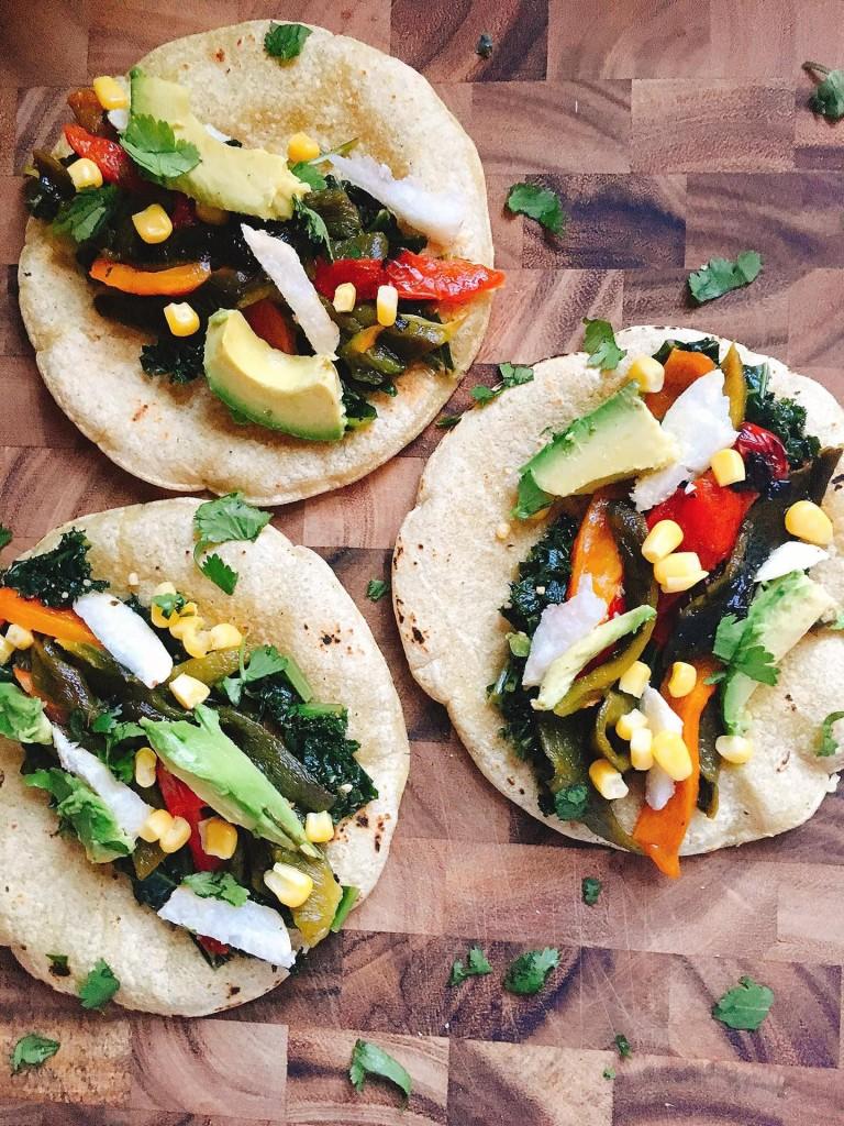 Vegan Roasted Pepper Tacos   Three Olives Branch