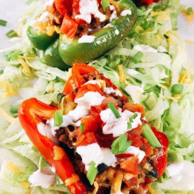 Beef Taco Stuffed Peppers