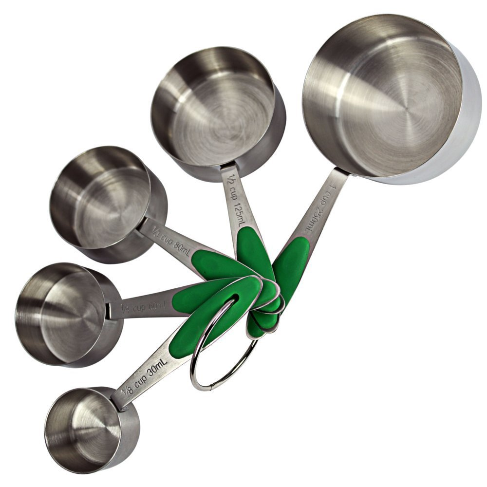 Measuring Cups - Looking for some gift ideas for the cook in your life this holiday season? These 17 Stocking Stuffers for the Cook in Your Life are a perfect list to find something special for your loved one. Great present ideas for Kwanza, Christmas, Hanukkah, and more | Three Olives Branch | www.threeolivesbranch.com