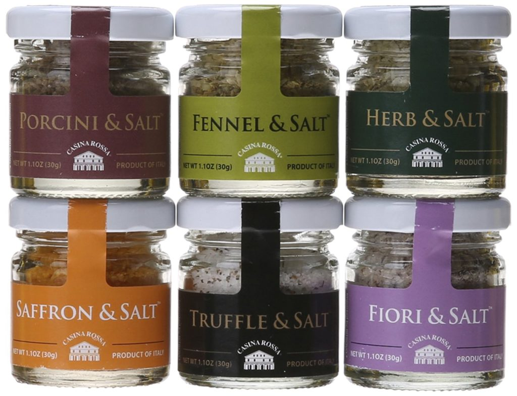 Flavored Salts - A perfect gift for the grill lover in your life! Great for Dad, husband, men, and women. Present for Christmas, Hanukkah, birthdays, or any other gift giving holiday! | 20 Gift Ideas for Grill Lovers | Three Olives Branch | www.threeolivesbranch.com