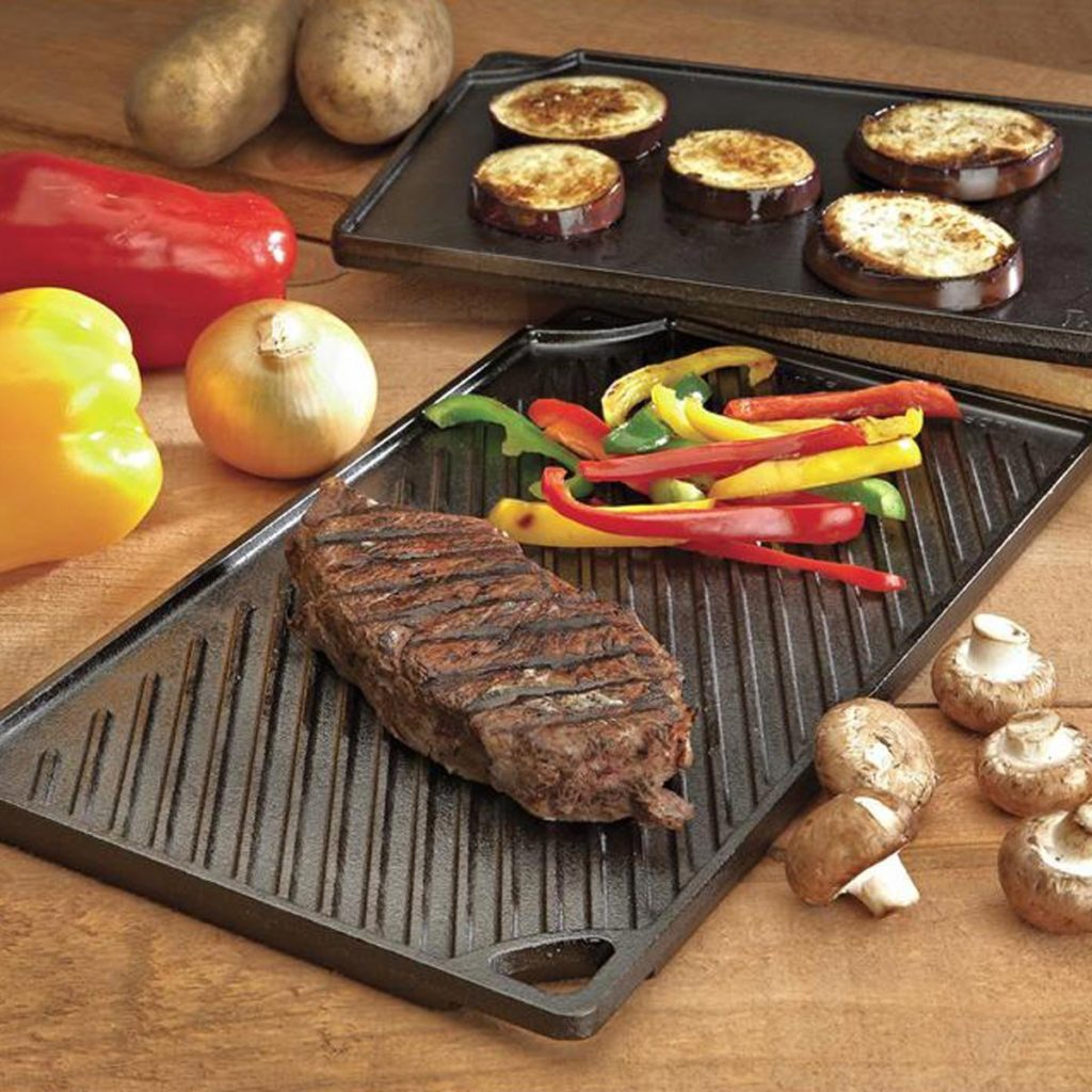 Grill Griddle - A perfect gift for the grill lover in your life! Great for Dad, husband, men, and women. Present for Christmas, Hanukkah, birthdays, or any other gift giving holiday! | 20 Gift Ideas for Grill Lovers | Three Olives Branch | www.threeolivesbranch.com