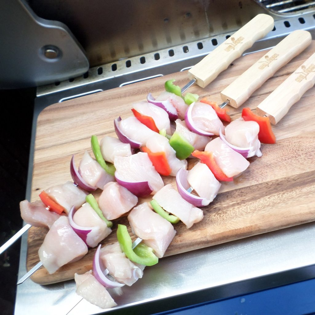 Grill Skewers - A perfect gift for the grill lover in your life! Great for Dad, husband, men, and women. Present for Christmas, Hanukkah, birthdays, or any other gift giving holiday! | 20 Gift Ideas for Grill Lovers | Three Olives Branch | www.threeolivesbranch.com