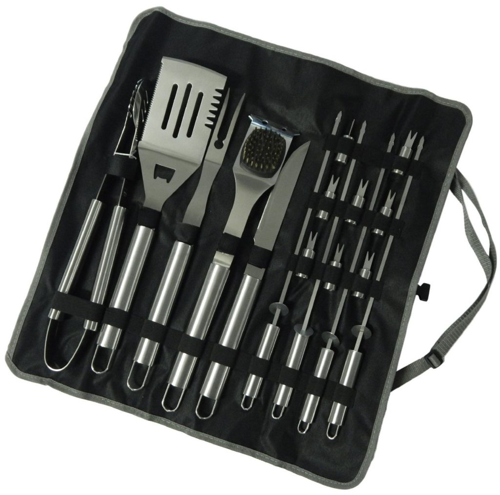 Grill Tool Set - A perfect gift for the grill lover in your life! Great for Dad, husband, men, and women. Present for Christmas, Hanukkah, birthdays, or any other gift giving holiday! | 20 Gift Ideas for Grill Lovers | Three Olives Branch | www.threeolivesbranch.com