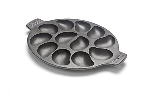 Oyster Grill Pan - A perfect gift for the grill lover in your life! Great for Dad, husband, men, and women. Present for Christmas, Hanukkah, birthdays, or any other gift giving holiday! | 20 Gift Ideas for Grill Lovers | Three Olives Branch | www.threeolivesbranch.com