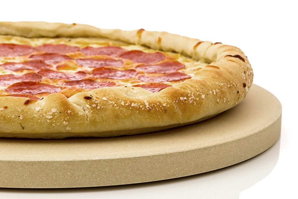 Grill Pizza Stone - A perfect gift for the grill lover in your life! Great for Dad, husband, men, and women. Present for Christmas, Hanukkah, birthdays, or any other gift giving holiday! | 20 Gift Ideas for Grill Lovers | Three Olives Branch | www.threeolivesbranch.com