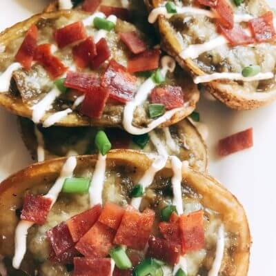 Green Chili Potato Skins