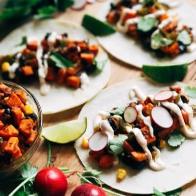 Southwest Chipotle Sweet Potato Tacos