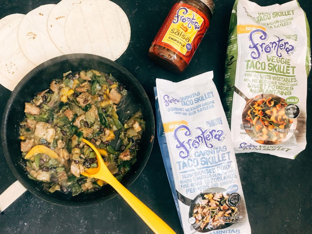Quick and simple crema recipe for Mexican foods. Roasted poblano peppers are blended with lime juice and sour cream for a fast and easy sauce. Vegetarian and gluten free recipe. Perfect on Frontera Skillet meals. Roasted Poblano Lime Crema   Three Olives Branch   www.threeolivesbranch.com