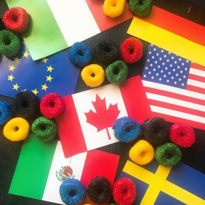 Candy Coated Olympic Ring Marshmallows
