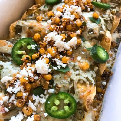 Mexican Street Corn Enchiladas