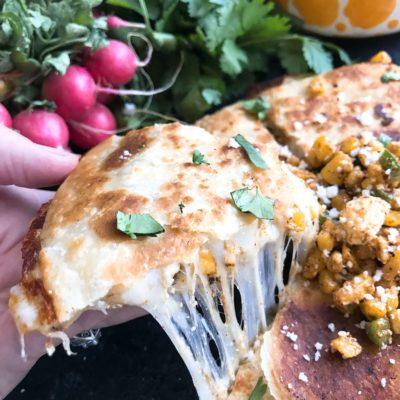Mexican Street Corn Quesadillas