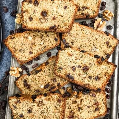 Walnut Raisin Zucchini Bread