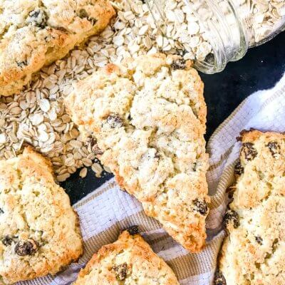 Coconut Oatmeal Raisin Scones