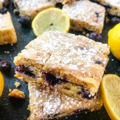 Lemon Blueberry Blondie Recipe