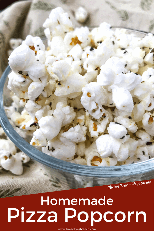 Pin image of Pizza Popcorn with title at bottom