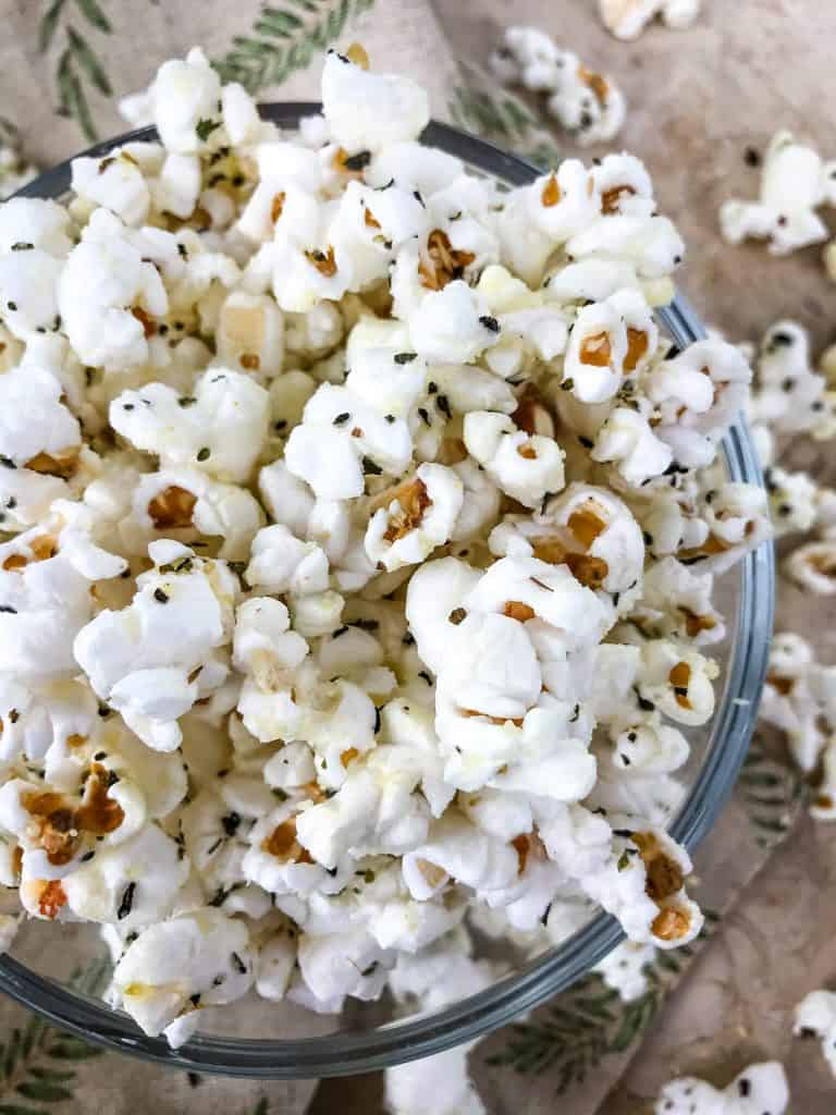 A bowl of Pizza Popcorn