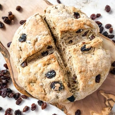 Irish Cinnamon Raisin Soda Bread Mini Loaf