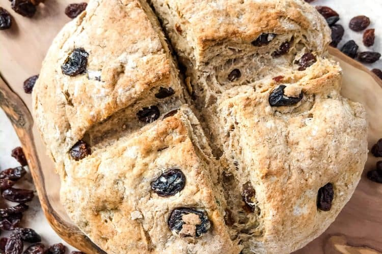 Irish Cinnamon Raisin Soda Bread Mini Loaf