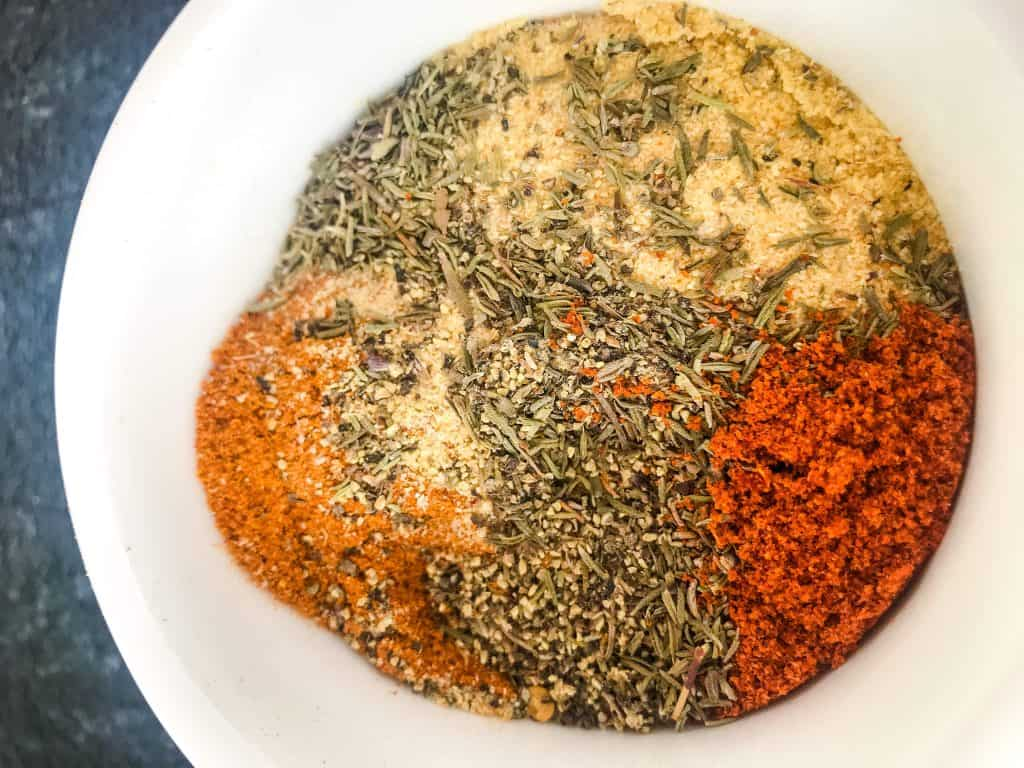 Three pepper dry rub mixture