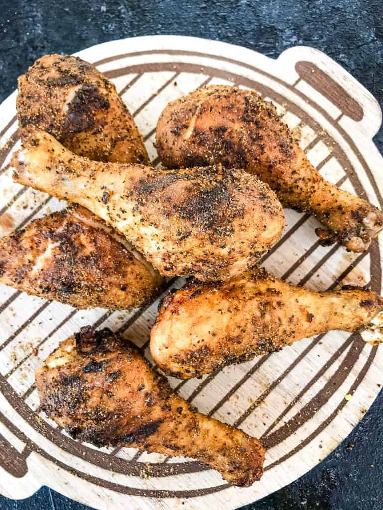Pieces of Three Pepper Dry Rub for Chicken Drumsticks
