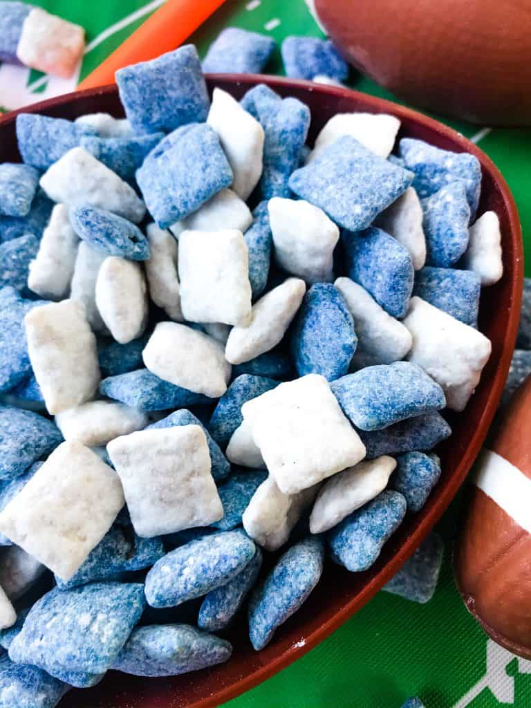 Indianapolis Colts Puppy Chow in a football bowl