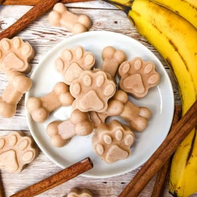Frozen Cinnamon Banana Dog Treats