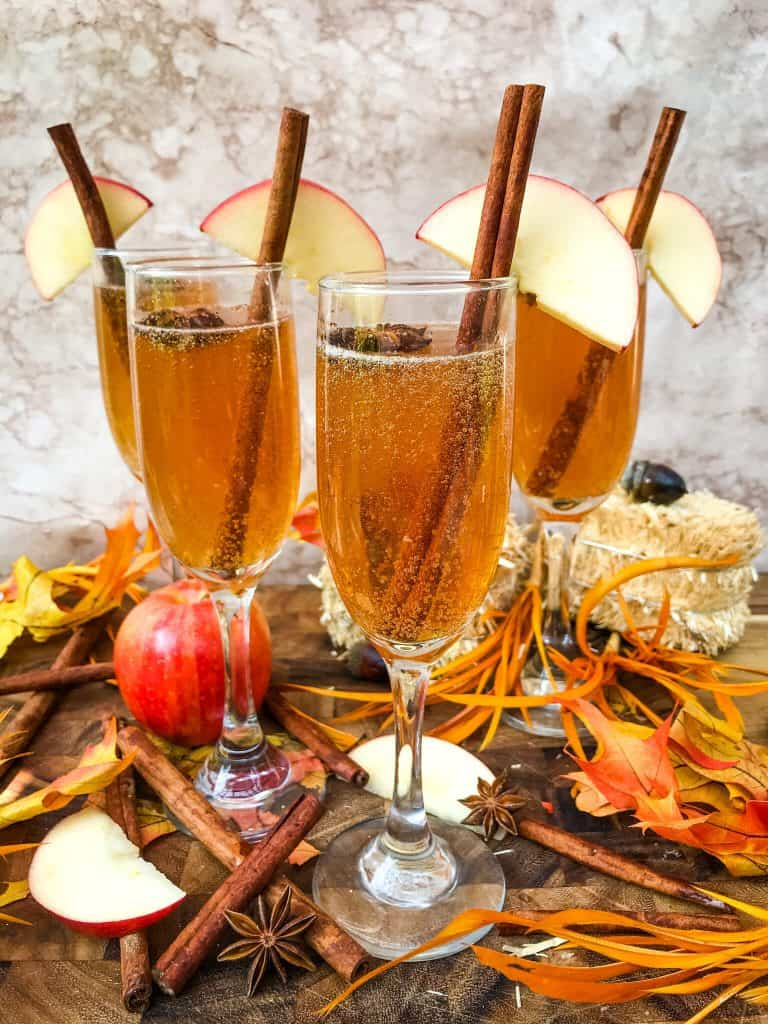 Cinnamon Apple Cider Mimosas