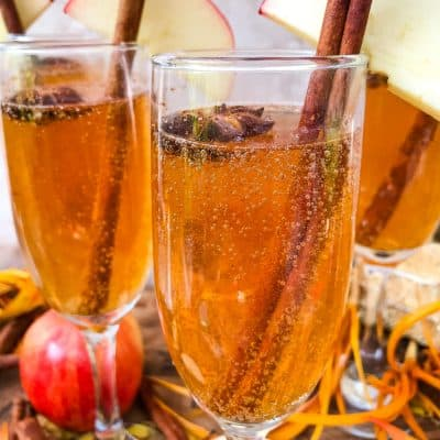 Cinnamon Apple Cider Mimosa