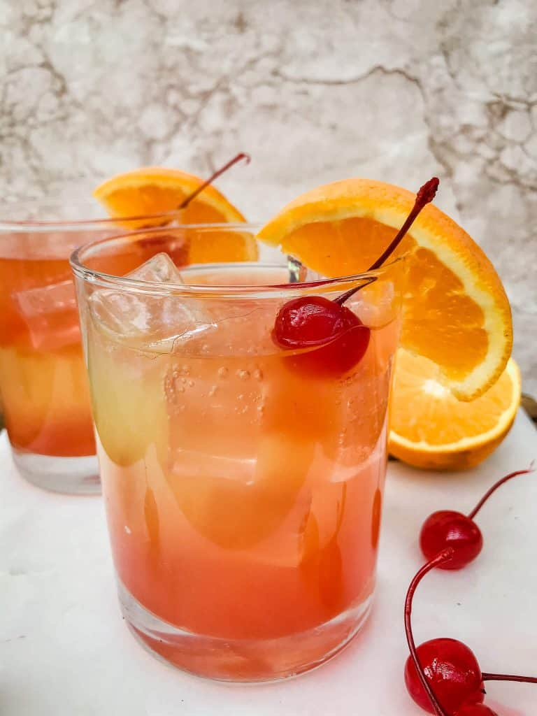 Copycat Olive Garden Venetian Sunset Champagne Cocktail