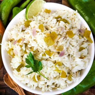 Hatch Green Chile Rice
