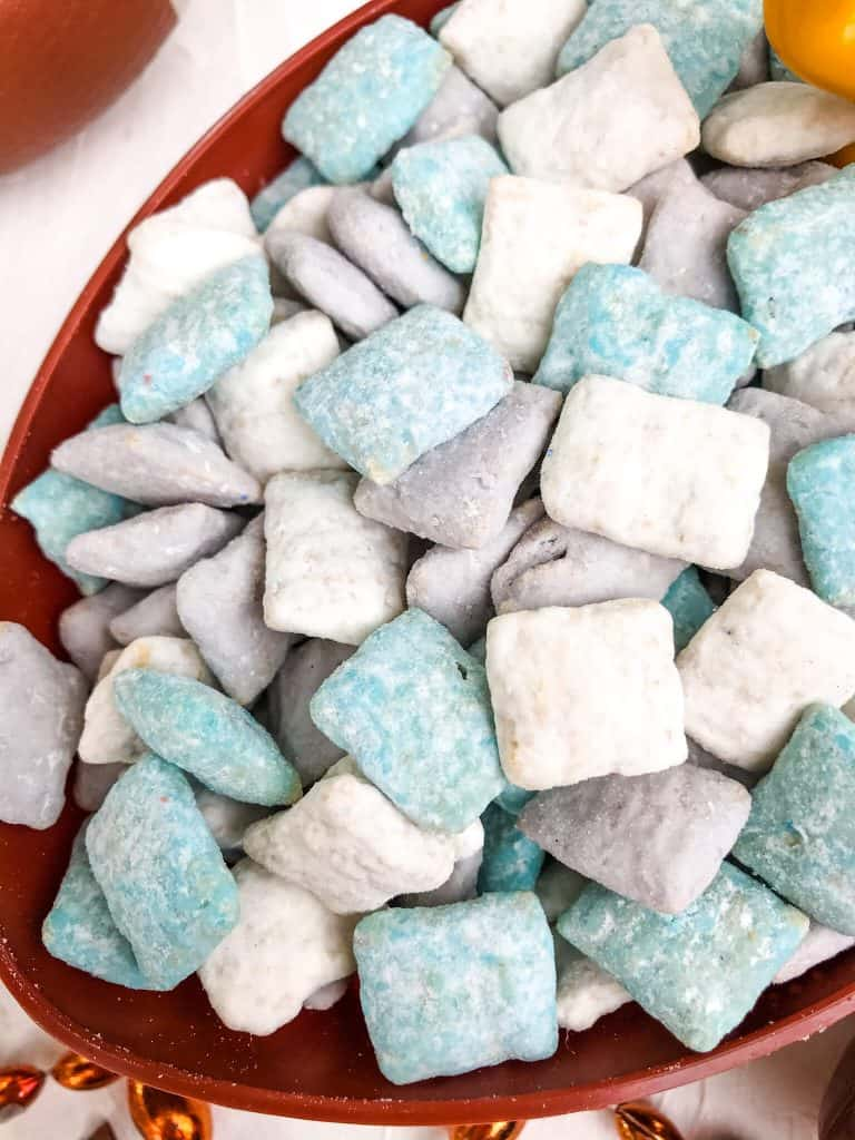 Close up of Detroit Lions Puppy Chow