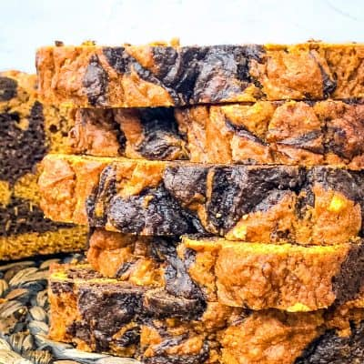 Marbled Chocolate Pumpkin Bread