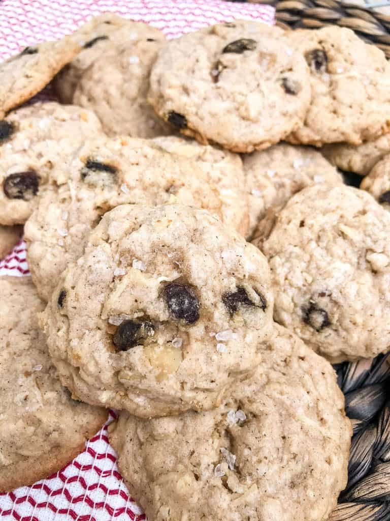 Close up of a pile of cookies