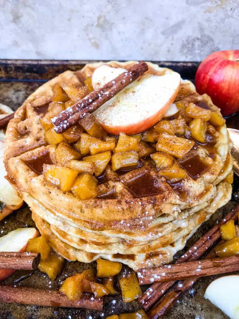 Cinnamon Apple Waffles