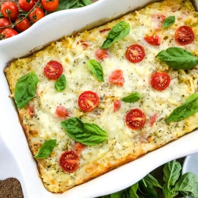 Caprese Hashbrown Breakfast Casserole