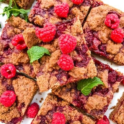 Chocolate Raspberry Crumble Bars