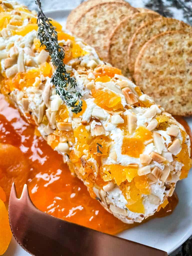 Close up of the goat cheese appetizer